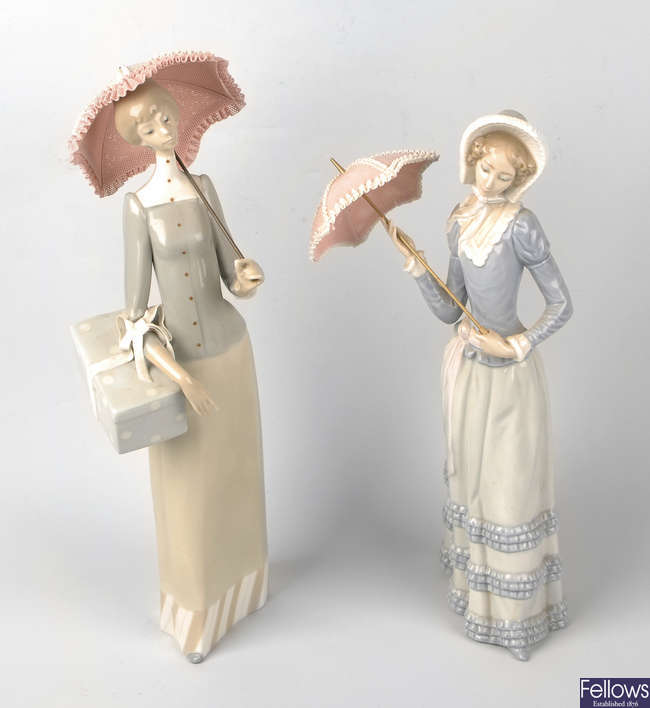 Two Lladro figures
