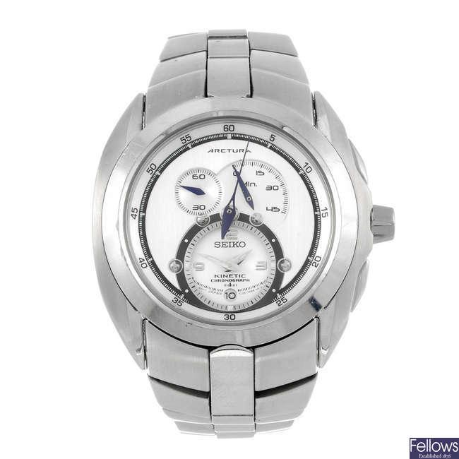 SEIKO - a gentleman's Arctura chronograph bracelet watch.
