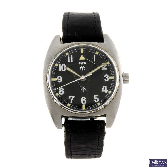 CWC - a military issue stainless steel gentleman's wrist watch.