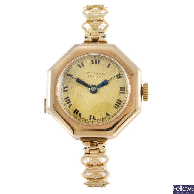 J. W. BENSON - a lady's bracelet watch.