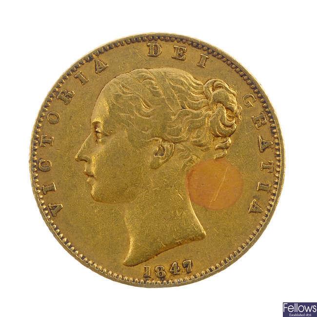 Victoria, Sovereign 1847.