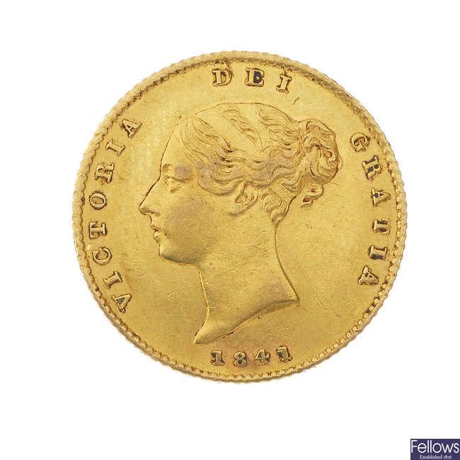 Victoria, Half-Sovereign 1841.