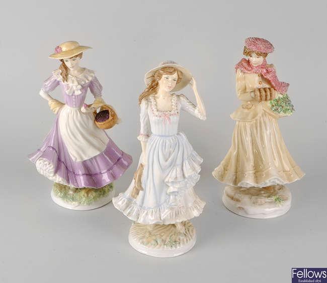 Three Royal Worcester figures