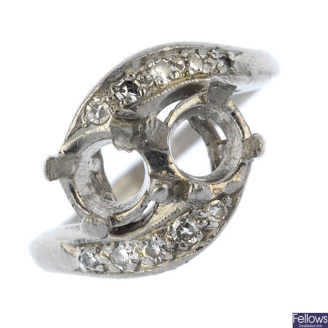 A diamond ring mount.