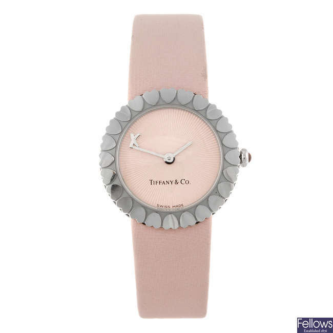 TIFFANY - a lady's stainless steel Paloma Picasso Crown Of Hearts wrist watch.