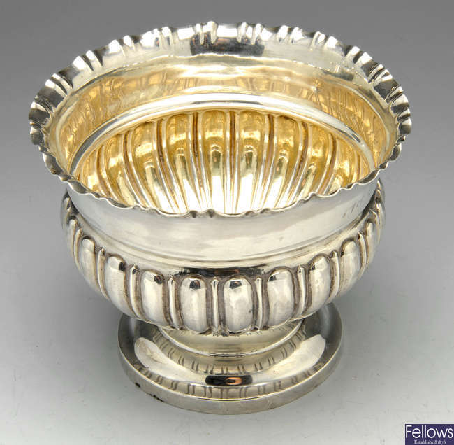 A turn of the century silver bowl.