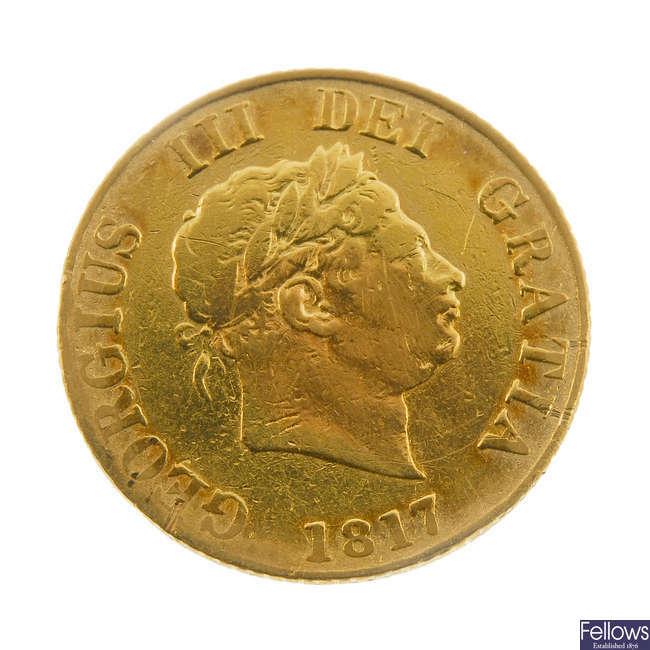 George III, Half-Sovereign 1817 (S 3786).