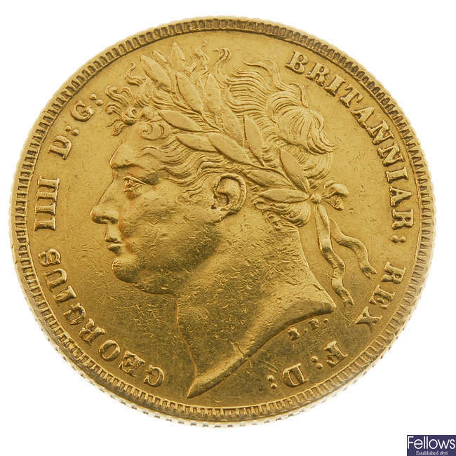 George IV, Sovereign 1821 (S 3800).