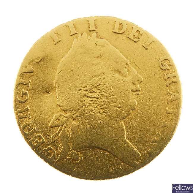 George III, Half-Guinea 1788.