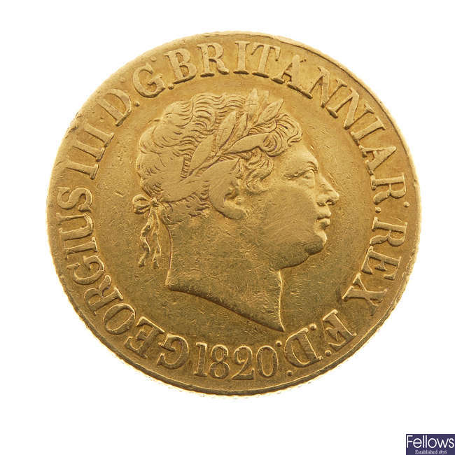 George III, Sovereign 1820.