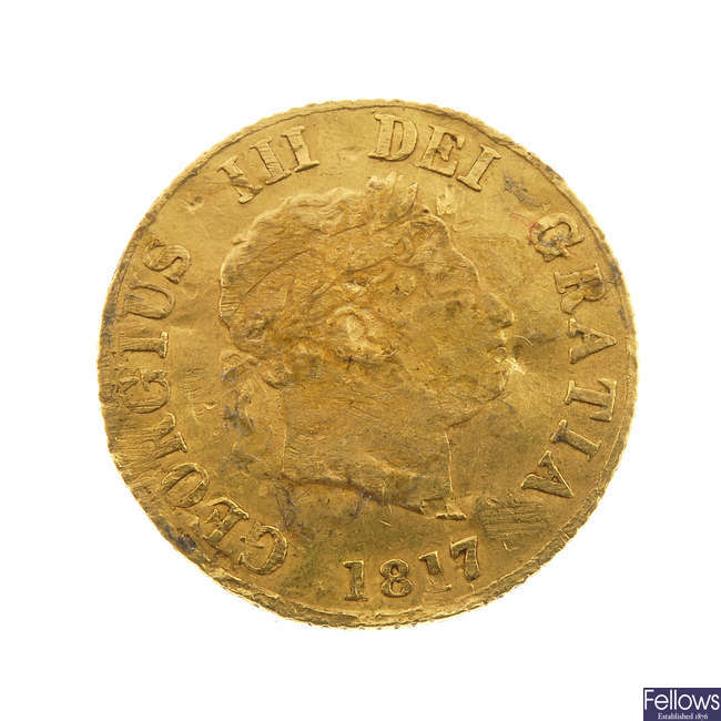 George III, Half-Sovereign 1817.