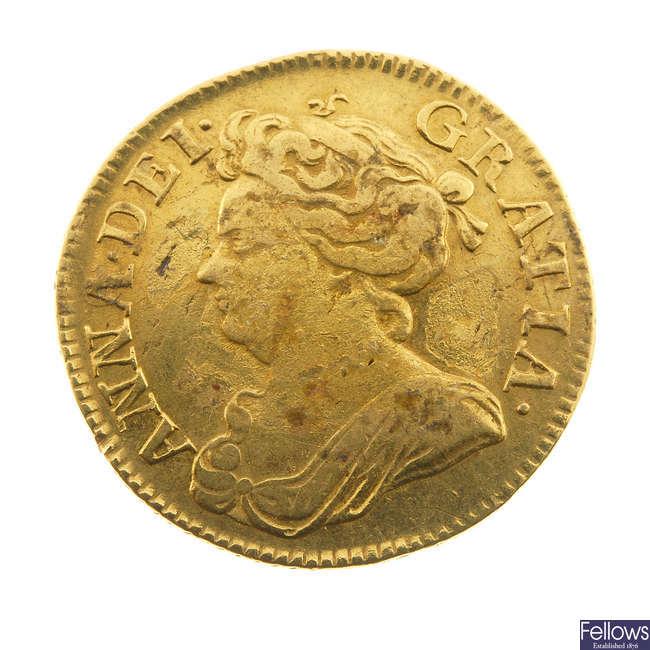 Anne, Guinea 1714 (S 3574).