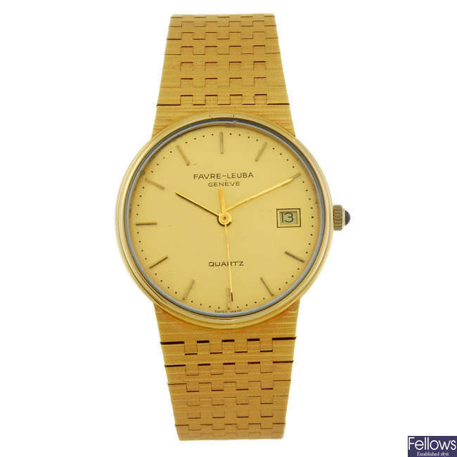 FAVRE LEUBA - a gentleman's gold plated bracelet watch.