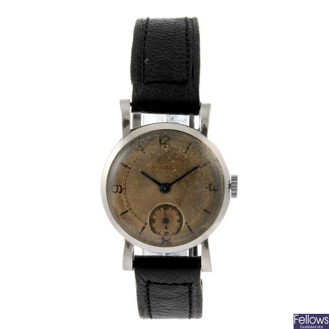 JAEGER-LECOULTRE - a lady's stainless steel wrist watch.