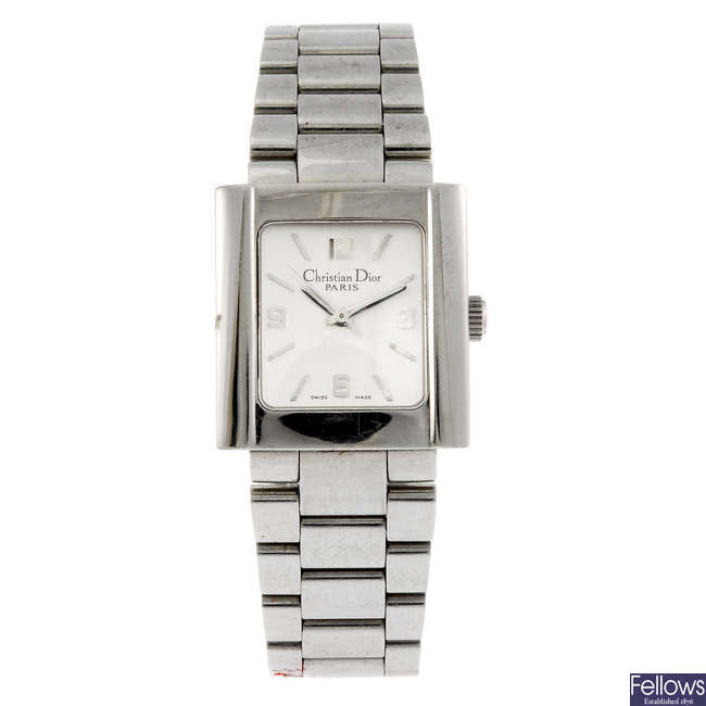 CHRISTIAN DIOR - a lady's stainless steel Riva bracelet watch.