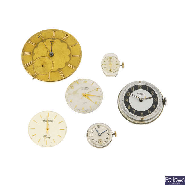 A selection of watch movements. Approximately 200.