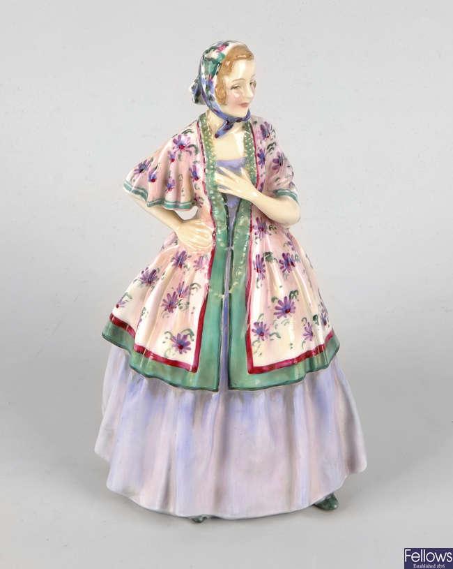 A Royal Doulton bone china figurine, 'Teresa' HN1682