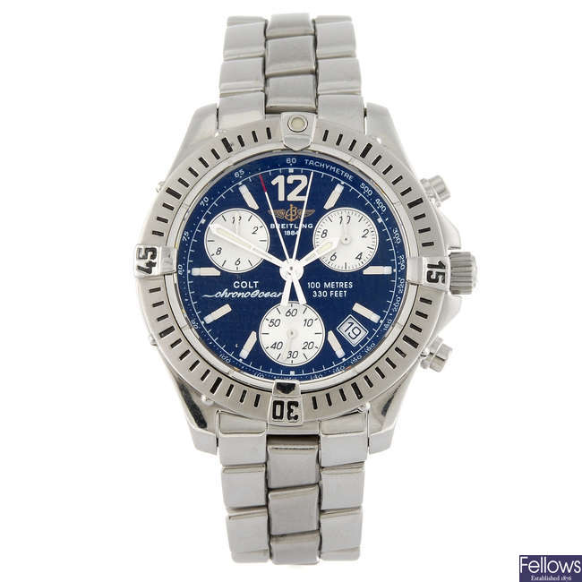 BREITLING - a gentleman's stainless steel Chrono Colt Ocean chronograph bracelet watch.