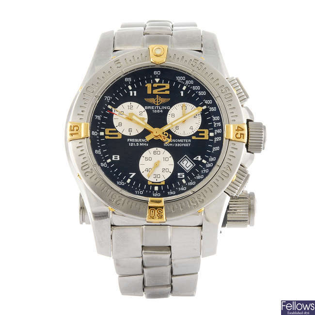 BREITLING - a gentleman's Professional Emergency Mission chronograph bracelet watch.