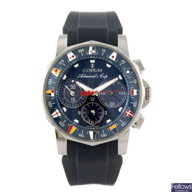 CORUM - a gentleman's Admiral's Cup Tides 44 chronograph wrist watch.