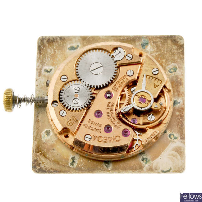 OMEGA -a small group of watch movements.