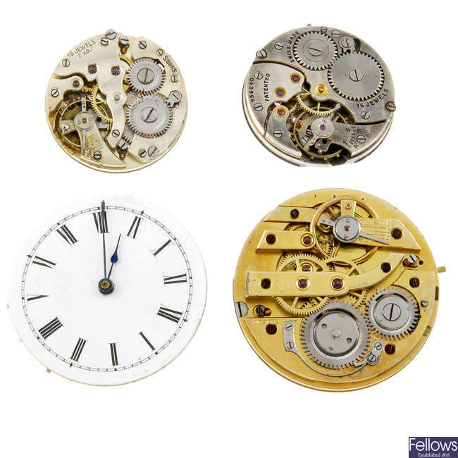 A mixed bag of watch movements. Approximately 200.