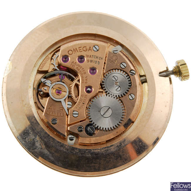 OMEGA - a small group of watch movements.