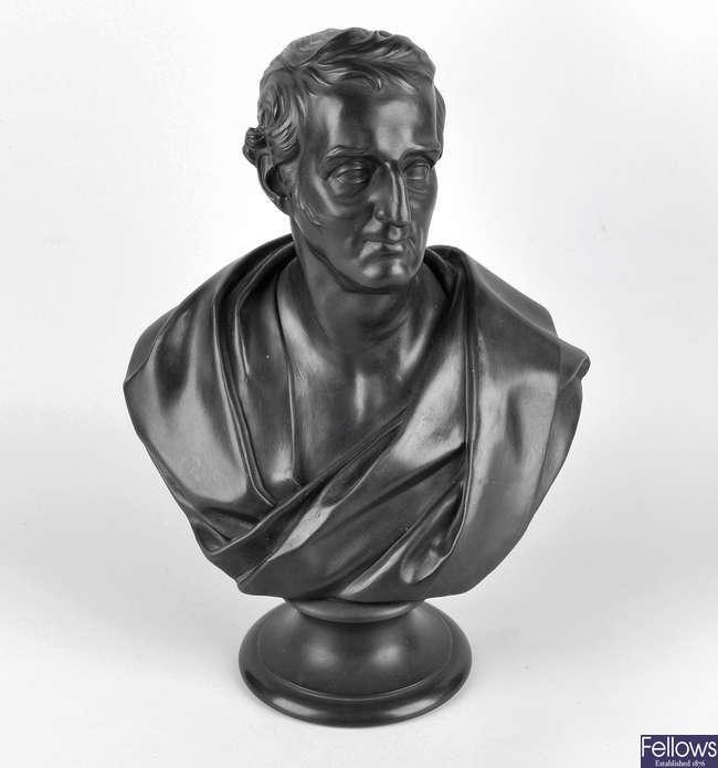 A 19th century Wedgwood black basalt bust