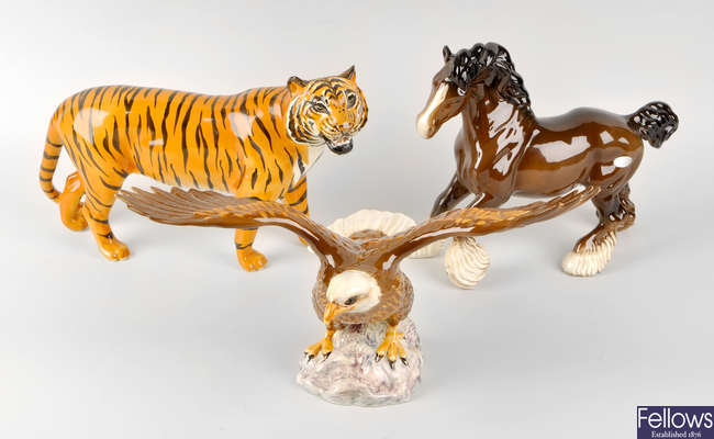 A group of Beswick and other animals