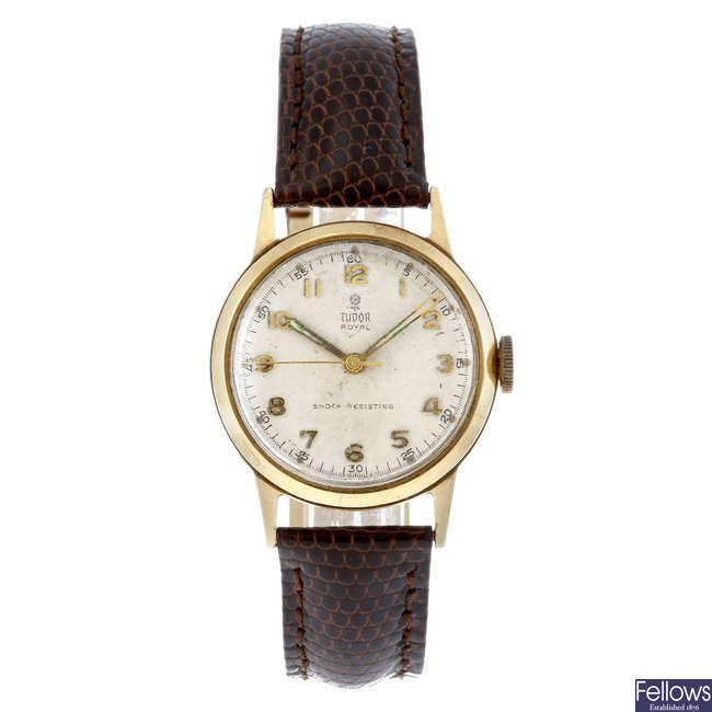 TUDOR - a gentleman's 9ct yellow gold Royal wrist watch.