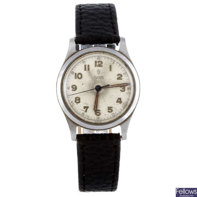 TUDOR - a gentleman's stainless steel wrist watch.