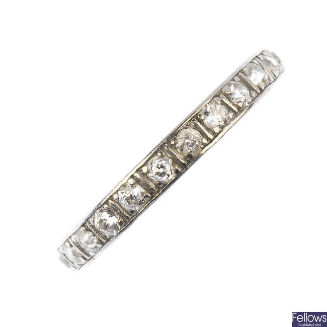 An early 20th century diamond full-circle eternity ring.