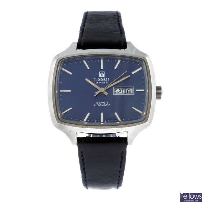 TISSOT - a gentleman's stainless steel Seven wrist watch with a Tissot Seastar wrist watch