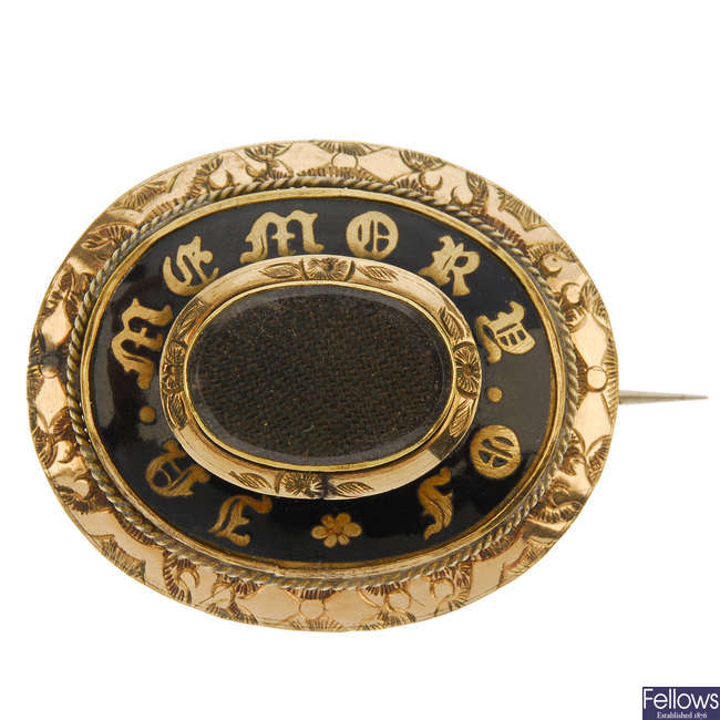 A late 19th century memorial brooch.