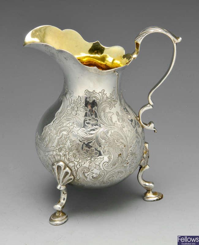 A George III cream jug.