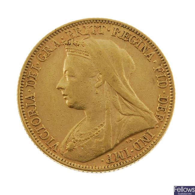 Victoria, Sovereign 1899M.