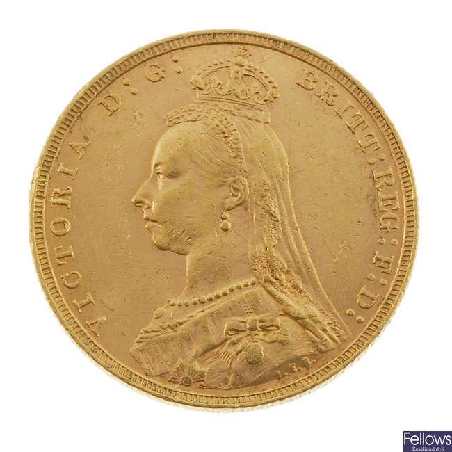 Victoria, Sovereign 1891.