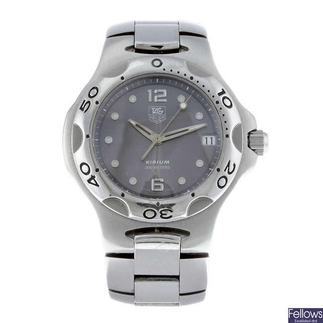 TAG HEUER - a gentleman's stainless steel Kirium bracelet watch.