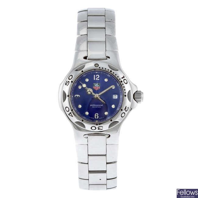 TAG HEUER - a lady's stainless steel Kirium bracelet watch.