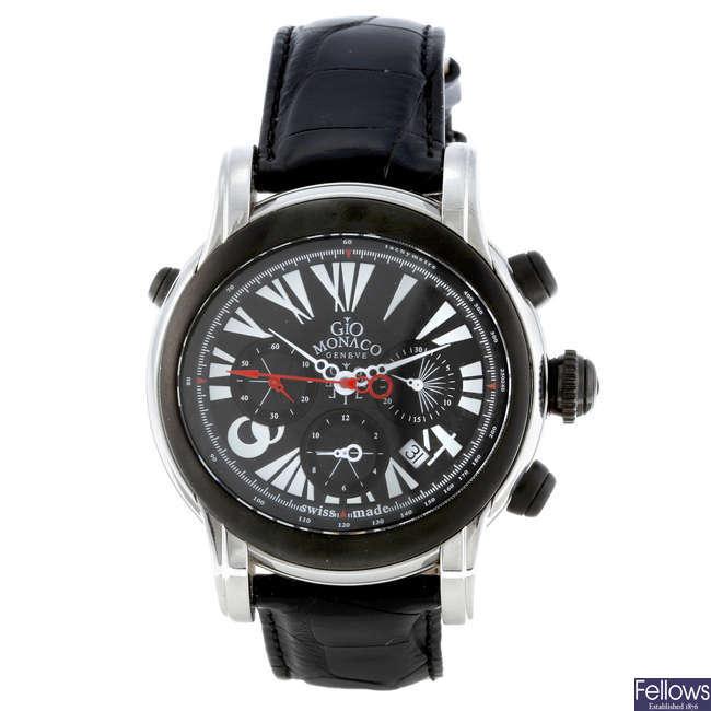 GIO MONACO - a gentleman's stainless steel Galileo chronograph wrist watch.