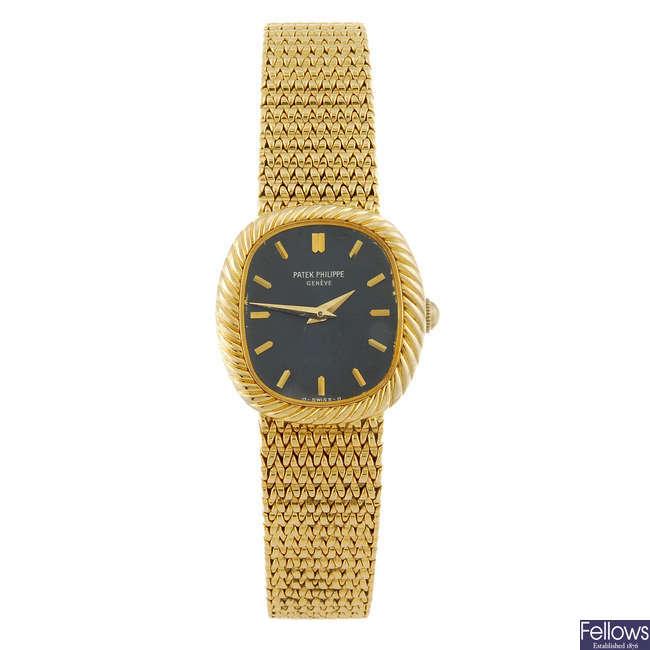PATEK PHILIPPE - an 18ct gold lady's Ellipse bracelet watch.