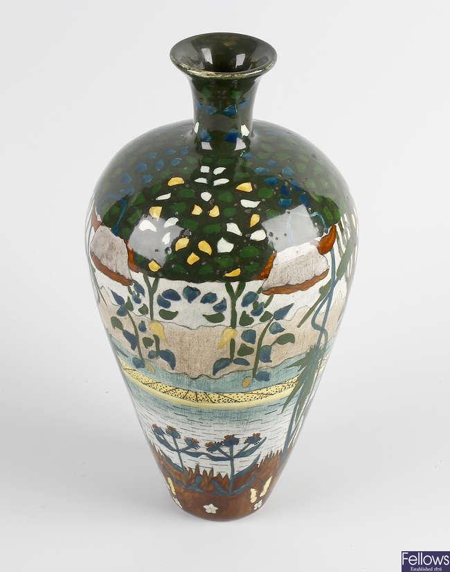 A Brantjes & Co Dutch Art Nouveau vase