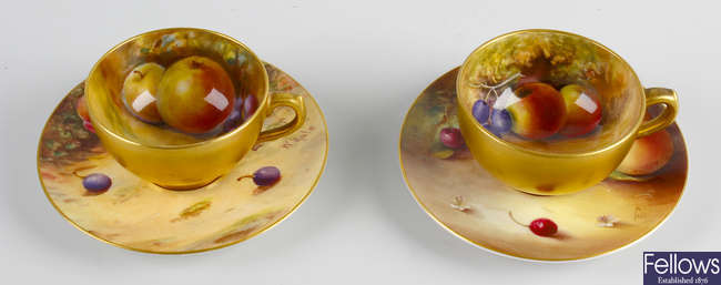 A Royal Worcester bone china cup and saucer
