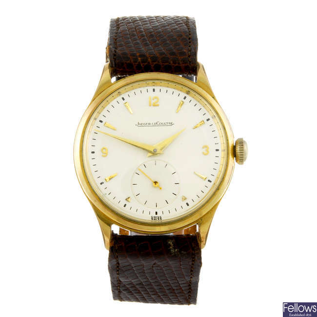 JAEGER-LECOULTRE - a gentleman's gold plated wrist watch.