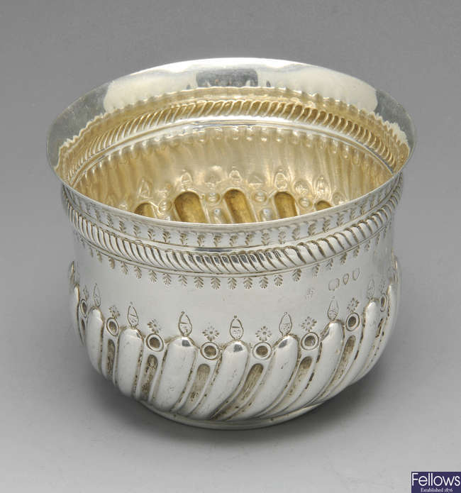 A small Victorian silver bowl & two Edwardian examples. (3).