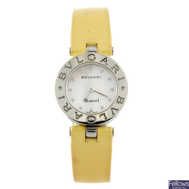 BULGARI - a lady's stainless steel B.Zero 1 wrist watch.