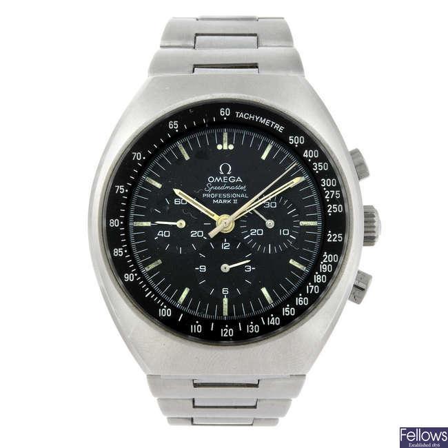 OMEGA - a gentleman's stainless steel Speedmaster Mk II chronograph bracelet watch.