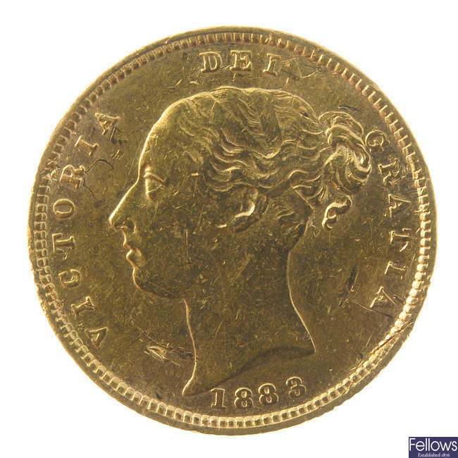 Victoria, Half-Sovereign 1883.