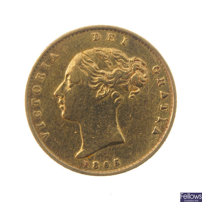 Victoria, Half-Sovereign 1865.