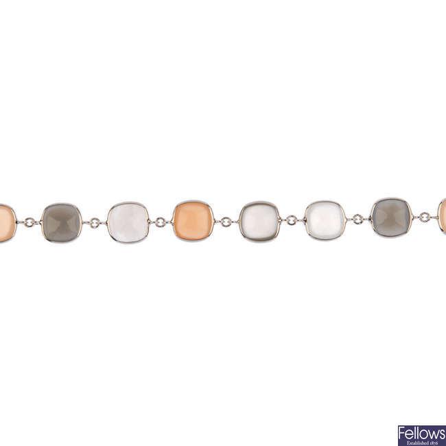 A moonstone bracelet.